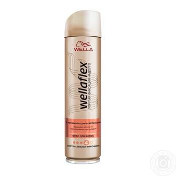 Лак для волосся Wellaflex екстрасильна фіксація зі зволожуючим комплексом 250мл - купити, ціни на Ашан - фото 2
