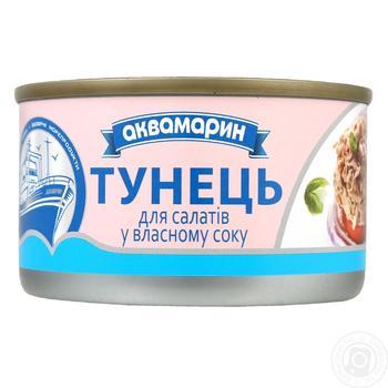 Тунец Аквамарин для салатов в собственном соку 185г - купить, цены на Восторг - фото 1