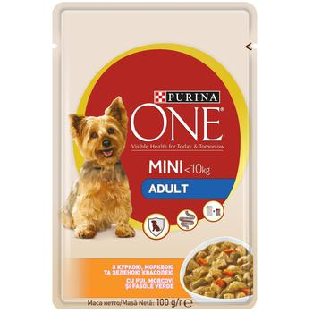 Purina One Adult for dogs with chicken, carrot, green beans in sauce food 100g - buy, prices for CityMarket - photo 1