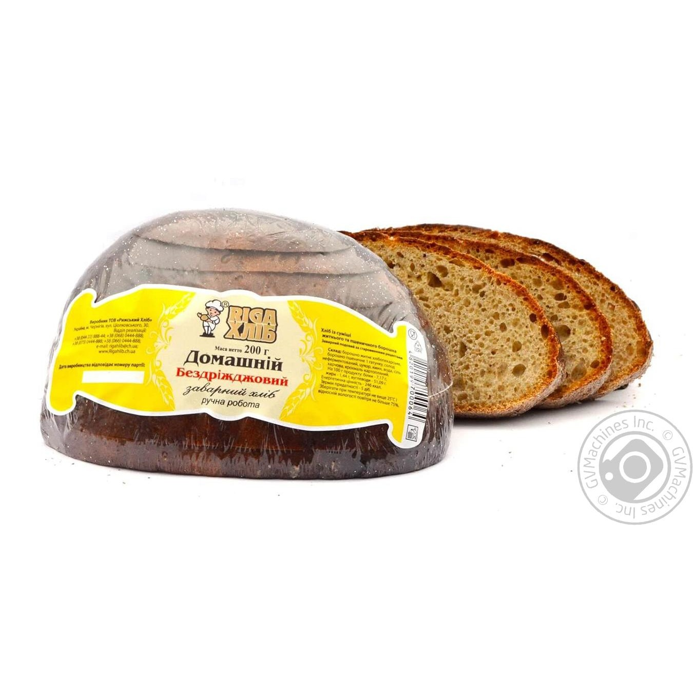 Riga khlib rye-wheat without yeast bread 200g → Bakery ...