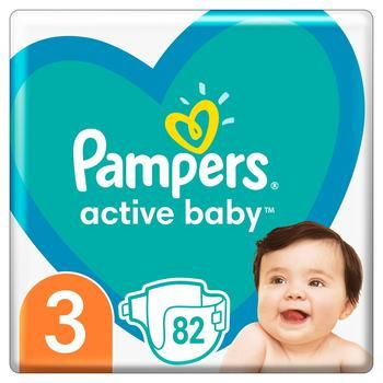 Подгузники Pampers Active Baby 3 6-10кг 82шт