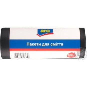 Aro trash bags 120L 10pcs - buy, prices for Metro - image 1