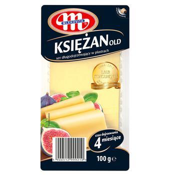Сыр Mlekovita Ксенжан Ольд твердый сычужный  нарезанный 100г
