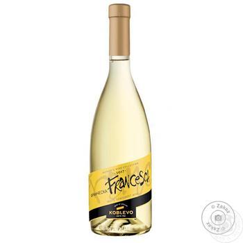 Вино Koblevo Франческа біле напівсолодке 12% 0,7л - купити, ціни на ЕКО Маркет - фото 1