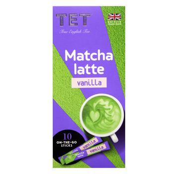 Напиток ТЕТ matcha latte на основе зеленого чая банан с ароматом ванили 10шт*10г