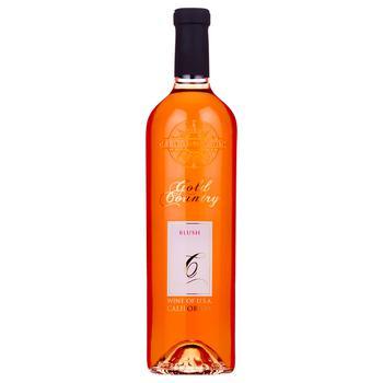 Вино Gold Country blush рожеве напівсолодке 9-13% 0.75л