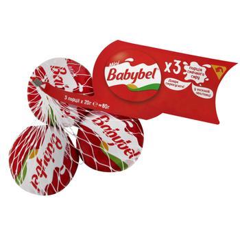 Сир Babybel Міні напівтвердий 3 порції 45% 3х20г - купити, ціни на МегаМаркет - фото 1