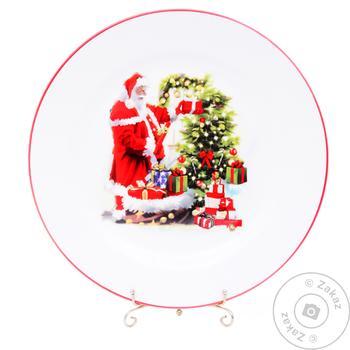 Тарелка сервировочная Lefard Новый год 25см - купить, цены на Таврия В - фото 1