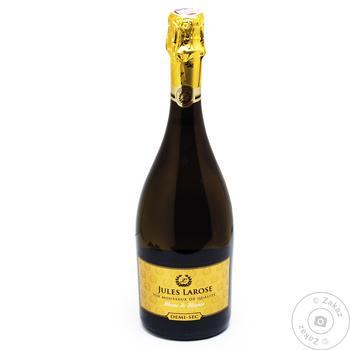 Вино игристое Jules Larose Blanc de Blancs DemiSec белое полусухое 11% 0.75л