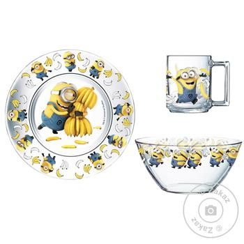 OSZ Disney Minions Set of Children's Dinnerware 3pcs - buy, prices for Auchan - photo 2