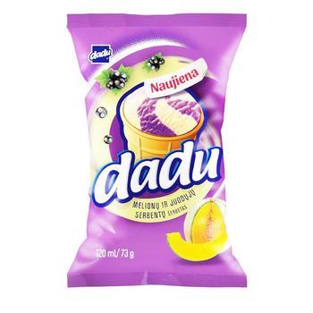 Мороженое Dadu Черная смородина Дыня в стаканчике 120мл - купить, цены на Таврия В - фото 1
