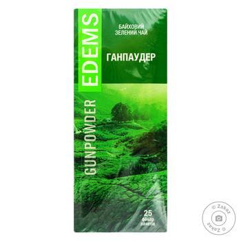 Чай зеленый Edems Ганпаудер 25 пакетиков - купить, цены на Фуршет - фото 1