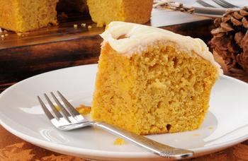 Быстрый тыквенный пирог с корицей