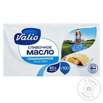 Масло Валио Сливочное без глютена 82% 500г