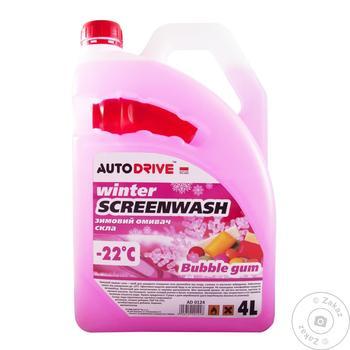Омивач скла зимовий Winter screen wash -22 °C 4 л Bubble Gum AD 0124 - купить, цены на Таврия В - фото 1