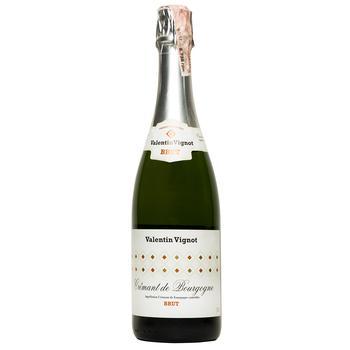Вино игристое Valentin Vignot Cremant de Bourgogne белое Брют 12% 0,75л