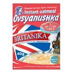Каша вівсяна Вівсянушка Британіка з сухими вершками швидкого приготування 40г