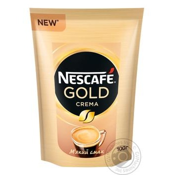 Кофе Nescafe Gold Crema растворимый 100г