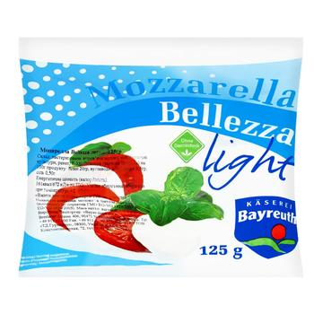 Bellezza Mozzarella Light Cheese 8% 125g - buy, prices for Furshet - image 2