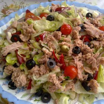 Салат из тунца и фенхеля по‑тоскански