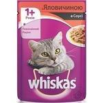 Корм для котов Whiskas с говядиной в соусе 100г
