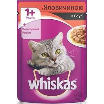 Корм для котов Whiskas с говядиной в соусе 100г - купить, цены на Метро - фото 2
