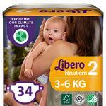 Подгузники детские Libero Newborn 2 3-6кг 34шт