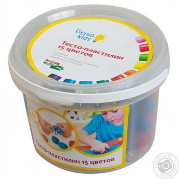 Н-р д/лепки Genio Kids Тесто-пластилин 15цв шт - купить, цены на Novus - фото 2