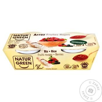 Naturgreen with rice and red fruits vegetable dessert 2*125g - buy, prices for MegaMarket - image 1