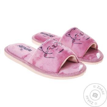 Взуття домашнє Twins жіноче велюрове - купити, ціни на МегаМаркет - фото 1
