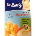 Baby milk porridge Bellakt Corn and oat for 5+ months babies 250g Belarus