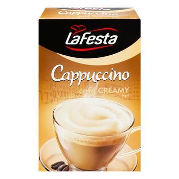 Напій капучіно La Festa з вершковим смаком розчинний в стіках 10*12,5г