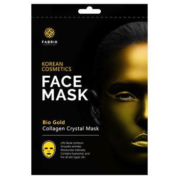 Маска для лица Fabrik Cosmetology Bio Gold Увлажняющая с биозолотом и коллагеном гидрогелевая 50г