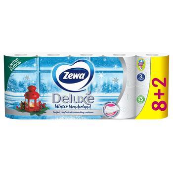 Туалетная бумага Zewa Deluxe белая 3 слоя 10 рулонов лимитированная коллекция - купить, цены на Novus - фото 1