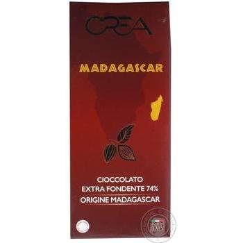 Шоколад Crea Madagascar черный 74% 100г
