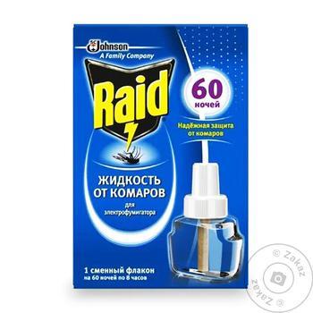 Жидкость против комаров Raid для фумигатора 60 ночей 45мл