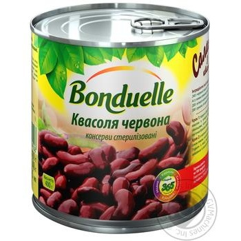 Фасоль Бондюэль красная консервированная 425мл - купить, цены на МегаМаркет - фото 1