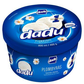 Ice-cream Dadu with vanilla frozen Lithuania