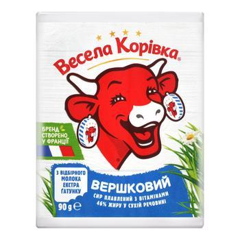 Сыр плавленый Весёлая Коровка Сливочный с витаминами 46% 90г - купить, цены на Novus - фото 1
