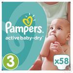 Подгузники Pampers Active Baby-Dry 3 Midi 5-9кг 58шт