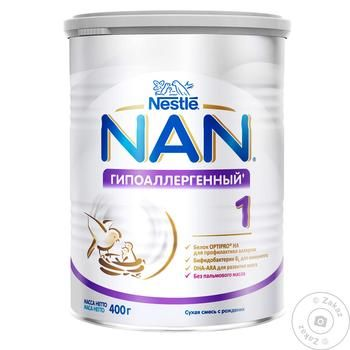 Смесь молочная Нестле Нан 1 Гипоаллергенный сухая для детей с рождения 400г - купить, цены на Фуршет - фото 8