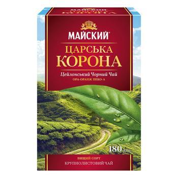 Чай чорний Майский Царська Корона 180г - купити, ціни на Ашан - фото 1
