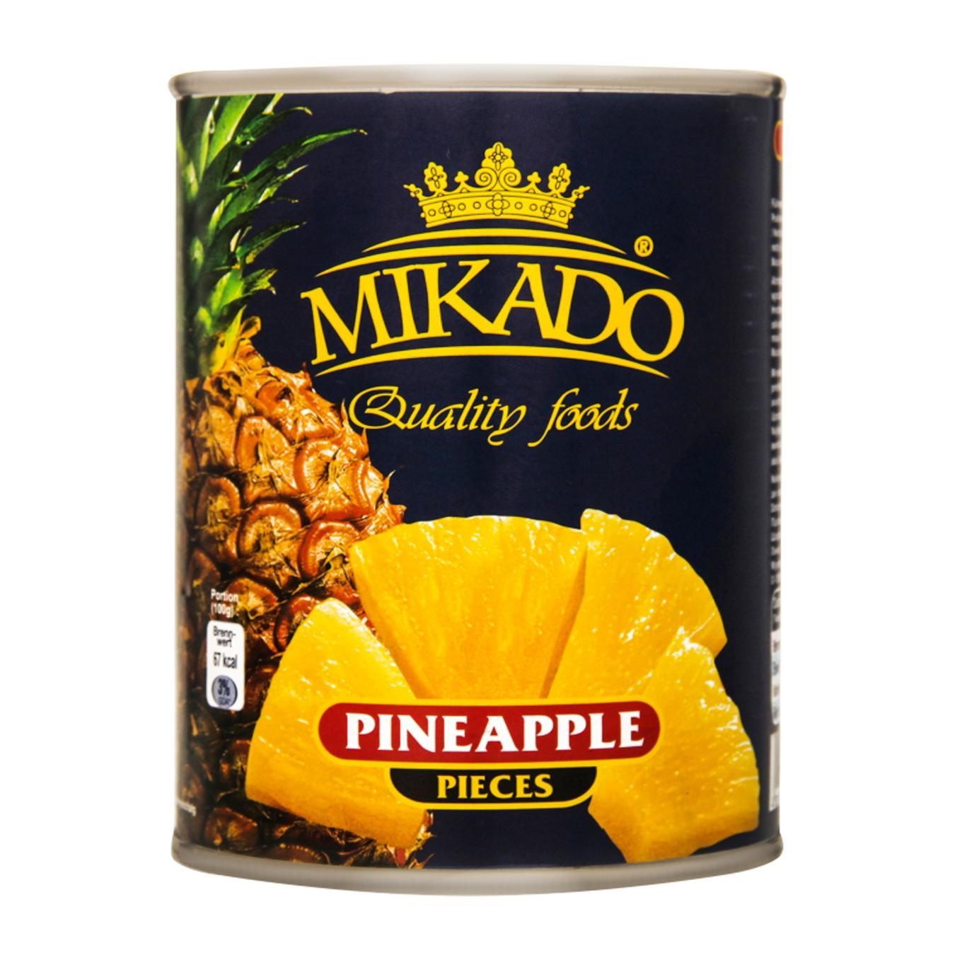 Купить 5799, Конс ананас МІКАДО 565 г шматочками ж/б (Індонезія) И428