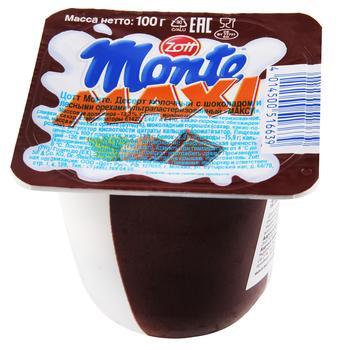 Десерт молочный Zott Monte Maxi с шоколадом и лесными орехами 13,3% 100г - купить, цены на Фуршет - фото 1