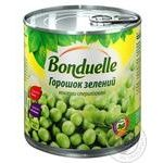 Горошок Бондюель зелений консервований 425мл - купити, ціни на МегаМаркет - фото 1