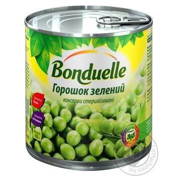 Горошок Бондюель зелений консервований 425мл - купити, ціни на Novus - фото 1