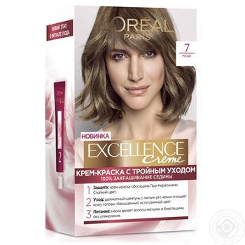 Крем-фарба для волосся L'Oreal Excellence Creme 7 русявий