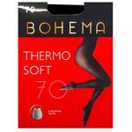 Bohema Thermo Soft 70 Den Black Tights for Women Size 4