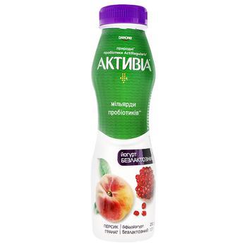 Бифидойогурт Активиа персик-гранат безлактозный 1,3% 290г