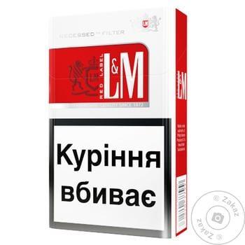 Сигареты L&M Red Label 20шт - купить, цены на Восторг - фото 1